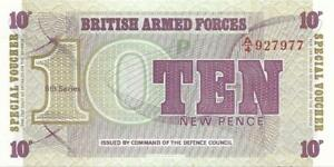UK ARMED FORCES 💷💷 10 Pence PM - 48 💷💷 UNC from 1972