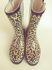 """Rain / Snow Rubber Boots """"Leopard Animal Print"""" Size 8 / New without tag & box"""