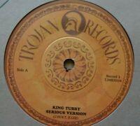 "KING TUBBY- Serious Version/ AGGROVATORS A Ruffer Version - 7"" Trojan DUB REGGAE"