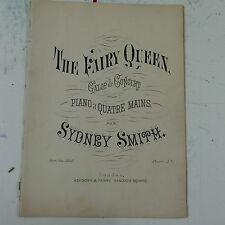 salon piano duet 4 hands SYDNEY SMITH the fairy queen , galop de concert  17pp