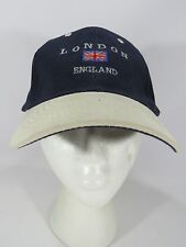 LONDON ENGLAND Baseball Hat Cap Union Jack Flag Blue Embroidered JH