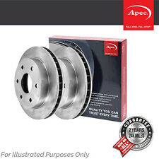 Fits VW Caddy MK3 2.0 TDi 4motion Genuine Apec Front Vented Brake Discs Set