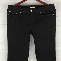 Jones New York Snake Skin Print Womens Size 10 Stretch Black Tapered Chino Pants