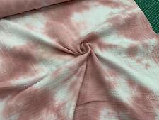 Musselin - Double Gauze - Batik - rosa/weiß - 0,50 Meter