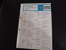 Schaltbild  Service Informationen Telefunken  Jubilate 201