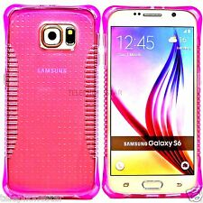 Pink Transparent Thin Slim Clear Bumper Rubber Case Cover For Samsung Galaxy S6