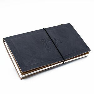 Black Handmade Leather Journal - My Little Black Book