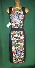 New TED BAKER UK12 TB3 Black AKVA KENSINGTON Floral BodyCon Stretch Pencil Dress