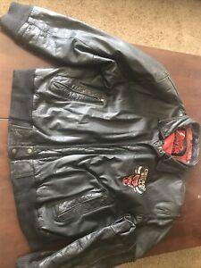 Vintage Pro Player NBA Chicago Bulls Leather Jacket Size xL