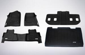 First, Second, Third, & Cargo Black Floor Mats 2007 - 2010 Cadillac Escalade ESV
