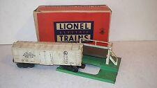 Lionel Trains 3472 Automatic Refrigerated Milk Car Platform Box Cans