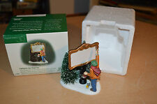 """Department 56 Heritage Village """"Painting Our Own Village Sign"""" #02372 Accessory"""