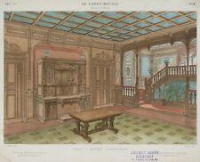 "LAROCHE, MAINCENT, ""Salle A Manger Renaissance"", Speisesaal, 19. Jhd., Farblith."