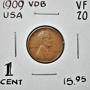 1909 VDB United States One Cent