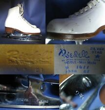 Ice Figure Skates Riedell 355 for intermediate skater Girls Size 5 A