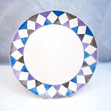 Villeroy & Boch Mettlach Saar Checkered/Diamond Dinner Plate(s) VINTAGE, READ