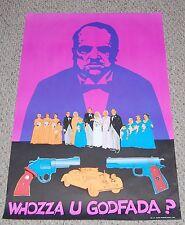 The GODFATHER Movie Marlon Brando Blacklight Poster 1975 Mob Mafia Acme