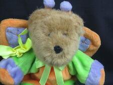 BROWN TEDDY BEAR BUTTERFLY COSTUME WINGS PURPLE GREEN ORANGE PLUSH STUFFED TOY