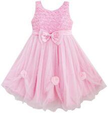 Flower Girl Dress Pink Rose Pageant Tull Wedding Kids Boutique Size 2-10 Formal