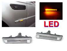 DEPO Light Bar Amber LED Fender Clear Side Marker Light For 2001-2006 BMW E46 M3