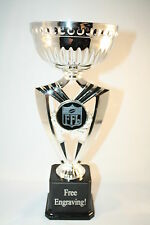 Fantasy Football Trophy Silver Cup - Free Engraving-Ships In 1 Business Day!