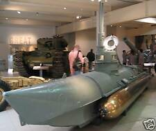 Beaver One-Man Midget Biber Submarine Wood Model Big