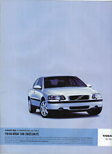 PUBLICITE ADVERTISING  2003    VOLVO S60     for life