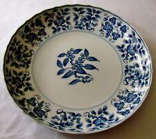 Japanese Sometsuke Porcelain Plate Rectangular Vtg Blue White Net Pattern PT569