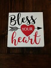 """Bless Your Heart Wooden sign 6"""" x 6"""""""