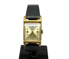 Vintage USA BULOVA Okay Co 3 Diamond Dial Gold Toned 21 Jewel hand-winding Watch