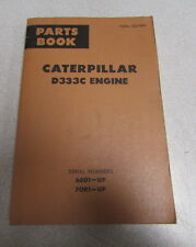 Caterpillar Cat D333C Engine Parts Catalog Manual 1972 66D1 70R1