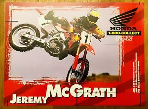 JEREMY MCGRATH 96' #1HONDA Factory Poster 8.5X10/Very Rare/Vintage/Race Only