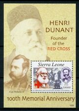 Sierra Leone 2010 MNH Henri Dunant 100th Memorial Anniv Red Cross 1v S/S Stamps