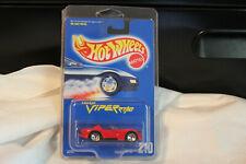 HOT WHEELS DODGE VIPER RT/10 -RARE #210 VHTF~5-SPOKE-VARIATION~1991 BLUE CARD