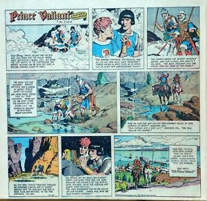 Prince Valiant by Hal Foster - scarce 2/3 page color Sunday comic, Oct. 10, 1971