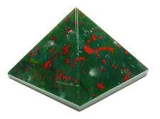 PYRAMID - BLOODSTONE 30-37mm Crystal w/Pouch & Description - Healing Reiki Stone