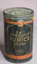 ANTIQUE /VINTAGE  POWERED PUMICE STONE Cardboard TIN/CAN  IDA DRUG STORES