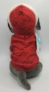 Frisco Dog or Cat Hoodie Heather Red Fur Trim Extra Small XS