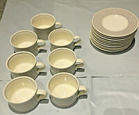 Vintage Mikasa COLOR OPTICS 7 Cups and 9 Plates
