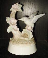 Vintage Otagiri Porcelain Music Box Beautiful Hummingbird Design Nr