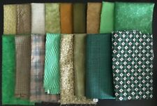 Coordinated Green-Tone Assortment, Various Sizes, 11 Yards Total