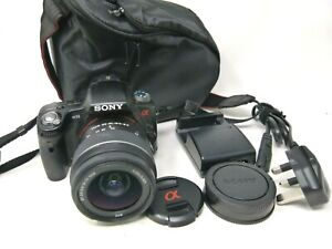 Sony Alpha SLT-A33 14.2MP Digital SLR Camera-Black(Kit w/ 18-55mm Lens)-Used