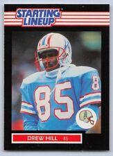 1989 Drew Hill - Kenner Starting Lineup Card - Slu - Houston Oilers