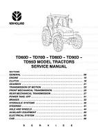 New Holland TD60D TD70D TD80D TD90D TD95D Tractors Print Service Workshop Manual