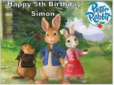 """Peter Rabbit Cake Topper Personalised  Edible Wafer Paper 7.5"""" By 10"""" A4"""