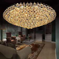 Luxury Crystal Lighting Lamps Flush Mounted Chandeliers Home Ceiling Fixtures