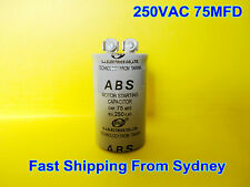 ABS 250VAC 75MFD (75uF) Air Conditioner Appliance Motor Starting Capacitor NEW