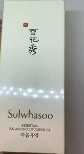 SULWHASOO ESSENTIAL BALANCING EMULSION EX 4.22 oz/ 125ml SEALED BOX USA SELLER