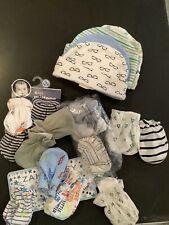 baby boy scratch mittens &hats