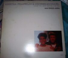 """ARETHA FRANKLIN AND GEORGE MICHAEL i knew you were waiting 650253 6 12"""" PS EX/EX"""